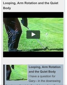 Looping, Arm Rotation and the Quiet Body - Gary Edwin Golf